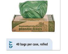 33 Gal Trash Garbage Bag 40/Box Stout Eco Degradable Plastic 1.1mil 33x40 Green