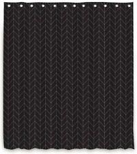 Coloridos fuegos artificiales Cortina De Ducha Tela Impermeable Poliéster Negro Set Y Ganchos
