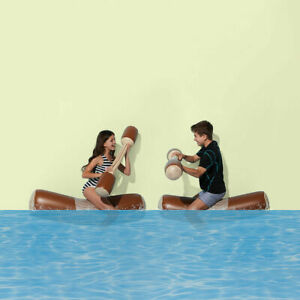 Inflatable Battle Pole Set Is The Perfect Pool Playset For Kids To Battle It Out