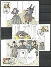 Liechtenstein Maximum Card Set 1985 Art Theatre Tragedy Commedia dell'Arte Opera