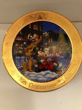 Tokyo Disneyland 1994 Christmas Fantasy Plate RARE FIND Mickey Minnie Donald