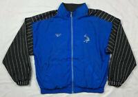 Vtg Reebok Shaq Mens XL Color Block Full Zip Jacket