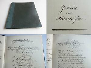 August Joseph Altenhöfer (1804-1876): Handwriting Satirische Poems – Augsburg