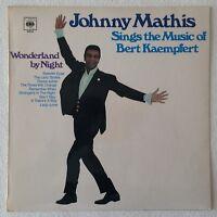 JOHNNY MATHIS ~ SINGS THE MUSIC OF BERT KAEMPFERT ~ 1969 UK 12-TRACK VINYL LP