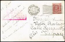 1548 ITALY TO CHILE CENSORED POSTCARD (DOG) 1917 MILANO - VALPARAISO
