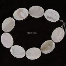 9 Pink Peruvian Opal Flat Oval Beads 15x20mm #76187