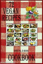 72 Delicious Vegan Recipes E-Book Cookbook CD-ROM