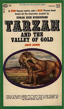RARE - TARZAN AND THE VALLEY OF GOLD PAPERBACK BOOK - FREE UK P&P