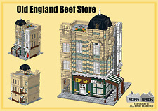 Lego custom modular building instruction - Old England Beef Store