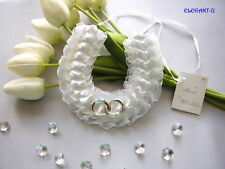 ~*~Bridal Lucky Horse Shoe Entwined Rings Wedding Good Luck Charm~*~