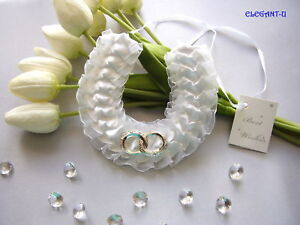 ~*~Bridal Lucky Horseshoe Entwined Rings Wedding Good Luck Charm~*~