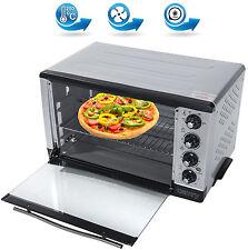 43 Liter Backofen mit Drehspieß Umluft Timer Mini Ofen Pizzaofen 2000 Watt NEU