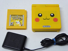 GameBoy Advance SP Pokemon Yellow System, Pokemon Pikachu Game! & Charger Bundle