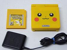 GameBoy Advance SP Pokemon Yellow System, Pokemon Pikachu Game! & Charger Bundle