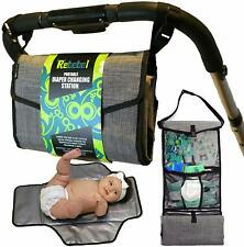 Portable Changing Pad Clutch with Convertible Shoulder/Stroller Straps