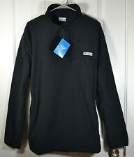 NWT MENS COLUMBIA BLACK SOFT PULLOVER JACKET FLEECE HARBORSIDE SZ M, L, XL, XXL