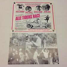 The Great Race Natalie Wood Tony Curtis Lemmon 1965 Danish Movie Press Release