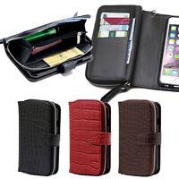Zipper Croc Wallet Case for Samsung Galaxy S5 / Galaxy S4 / Galaxy S3