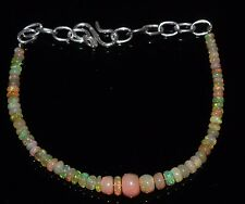 """14 Ctw1Bracelet 3to5.5 mm 5""""Beads Natural Genuine Ethiopian Welo Fire Opal 13470"""