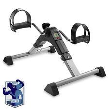 OPEN BOX - Folding Under Desk Exercise Bike - Arm Leg Foot Pedal Exerciser