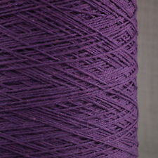 SOFT 4 PLY COTTON YARN 500g CONE 10 BALL DAMSON PURPLE CROCHET HAND MACHINE KNIT