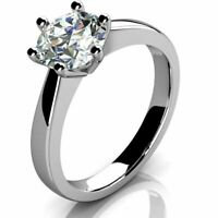 GIA Certified - 1.00ct Round Diamond Solitaire Engagement  Ring, 18K White Gold