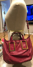 Authentic CHLOE 2Way Shoulder Handbag And Crossbody Bag Pink Leather