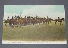 CPA L.L. CARTE POSTALE 1910-1914 MILITARIA ARMEE FRANCAISE CUIRASSIERS CHARGE