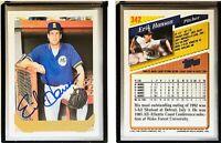 Erik Hanson Signed 1993 Topps #342 Card Seattle Mariners Auto Autograph