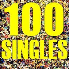 100 Vinyl-Singles mit Cover, Paket Sammlung Konvolut, Musik-Juke-Box Dekoration!