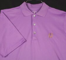 Fairway & Greene Tech Golf Polo Shirt Purple 18th Hole Horseshoe Sz M EUC