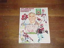 1994 Arkansas Razorbacks Football Media Guide