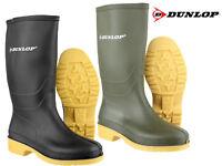 Boys Girls Dunlop Dull Wellingtons Wellies Rain Snow Waterproof Boots Sizes 10-8