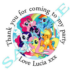 35x Personalised MY LITTLE PONY inspired Labels Stickers Party sweet cone bags