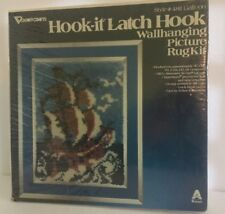 Vogart Crafts Style # 4811 Galleon Hook-it Latch Hook Wall hanging Picture Rug