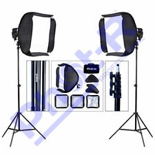 Phot-R 2x 60cm Softbox Diffuser Photo Studio 3m Adjustable Light Stand Kit
