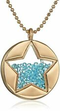 """betsey johnson """"Confetti Shaky Faceted Stone Star Round Long Pendant Necklace"""