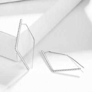Sterling Silver Fine Jewelry 1.3ct Moissanite Graduation & Anniversary Earrings