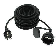 25m Outdoor Verlängerungskabel Kabel für den Garten IP44 schwarz Trango TG-25MCB