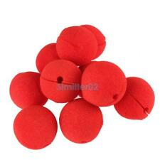 2017 10Pcs Party Favor CARNIVAL CIRCUS Big Top RED CLOWN NOSES Soft Sponge Nos