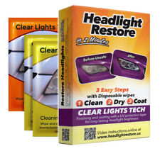 Lot of 28 Car Headlight Lens UV Protection Wipes Restore Kit Cleaner