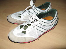 HARDLY USED MENS AUTHENTIC WHITE HUGO BOSS TENNIS TRAINERS SNEAKERS 7 UK 41 EU