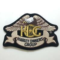 Harley Owners Group Motorcycle Eagle Embroidered Patch HOG Harley Davidson