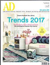 AD Architectural Digest.20 Jahre AD Trends 2017 08/2017!Top Zustand!Ungelesen!!