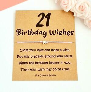 21st Birthday Wish Bracelet Gift For Daughter Niece Sister Son Millstone Gift