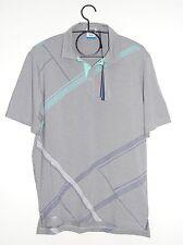 NWT PING Men's Sensor Cool Bump & Run Light Heather Gray SS Golf Polo Sz Medium