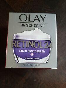 Olay Regenerist Retinol 24 Night Moisturizer Fragrance-Free 1.7 oz, New