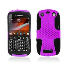 Purple With Black Hybrid Hard Case Cover for Blackberry Curve 9350 / 9360 / 9370