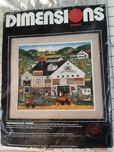 Dimensions Charles Wysocki Peppercricket Farm Crewel Kit #1320 Printed Canvas