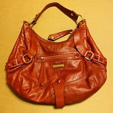 ISABELLA FIORE Red Leather Studded Angie Hobo Bag Rare! $695